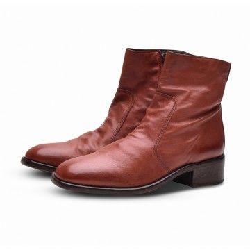 MOMA - Damen Schuhe - Stiefelette Lubrix - Borgogna Rostrot