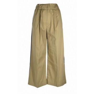 MYTHS - Damen Stoffhose - Pantalone Culotte - Beige