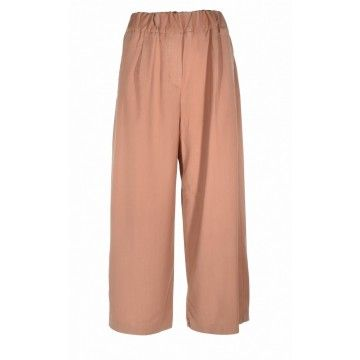 MYTHS - Damen Stoffhose - Pantalone Culotte - Cognac