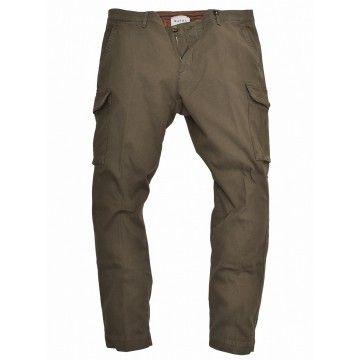 MYTHS - Herren Hose - Pantalone Cotone Cargo - Olive
