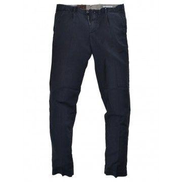 MYTHS - Herren Stoffhose -  Long Trousers - Navy