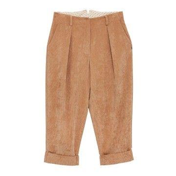 OTTOD'AME - Damen Hose - Cordhose Cropped - Sand/Beige