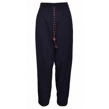 OTTOD´AME - Damen Hose - Pantalone Nadelstreifen - Navy