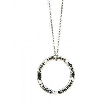 EINS BERLIN - Halskette - Mangala Mantra Silber - Schwarzes Stof