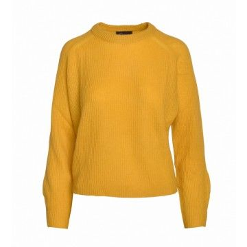 PRINCESS GOES HOLLYWOOD - Damen Pullover - Special Short - Spicy Mustard