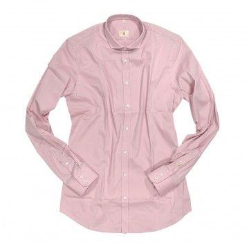 Q1 - Herren Hemd - Hemd Slim Fit - Rose