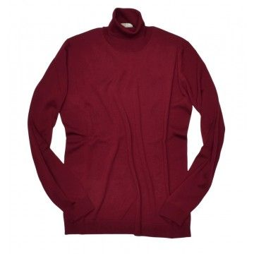 ROBERTO COLLINA - Herren Pullover - Turtle Neck Sweater - Bordeaux