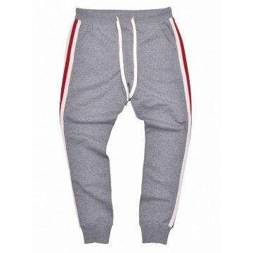 ROQA - Herren Jogger Grey Stripes