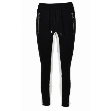 ROQA - Damen Sweathose - Jogger - Black/Cream
