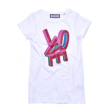 ROQA - Damen T-Shirt - Love - White