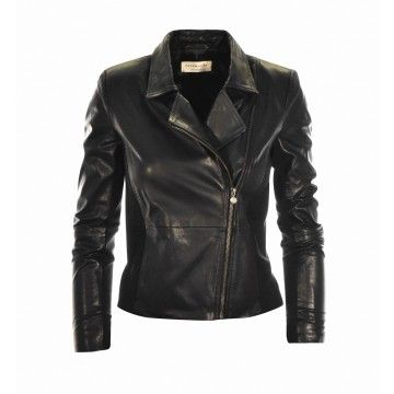 ROSEMUNDE - Damen Lederjacke - Jacket ls Leather - Black