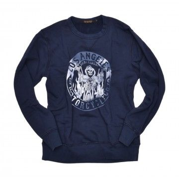 RUDE RIDERS - Herren Sweater - Speed Free - Faded Dark Blue