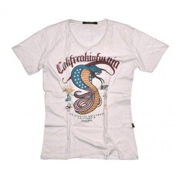 RUDE RIDERS - Herren T-Shirt - Califreakinfornia - faded white