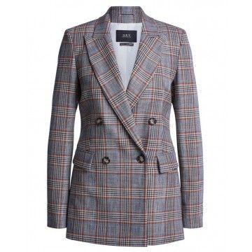 SET - Damen Jacket - Blazer Caromuster - Grey