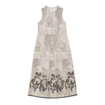 OTTOD´AME - Damen Kleid - Langes Baumwollkleid - Vanigia