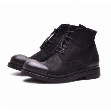 THE LAST CONSPIRACY - Herren Boot - BURI waxed suede - black -