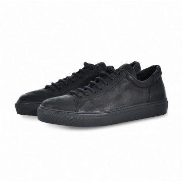 THE LAST CONSPIRACY - Herren Sneaker - Edgar - Horse Leather - Mat Black