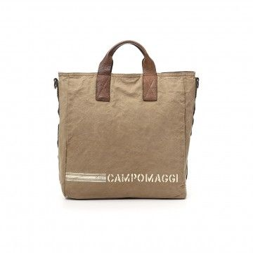 CAMPOMAGGI - Shopper - Shopping Canvas - Beige