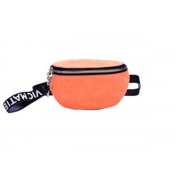 VIC MATIE - Damen Gürteltasche - Borsa in Pelle - Neon Orange