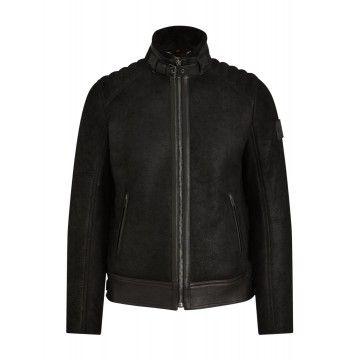 BELSTAFF Herren Lederjacke - Westlake 2.0 Jacket - Black
