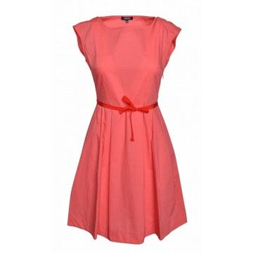 WOOLRICH - Damen Kleid - Popeline - Dress - coral