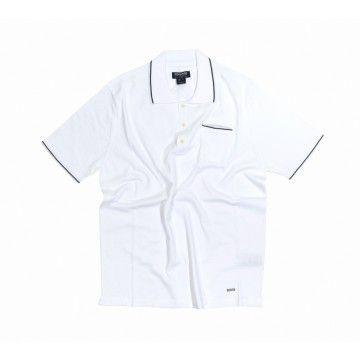 WOOLRICH - Herren Poloshirt - Knitted Polo - Optical White