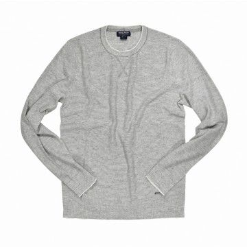 WOOLRICH - Herren Strickpullover - Printed Yarn Shore - Light Grey